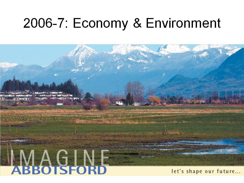 Imagine Abbotsford Economy & Environment