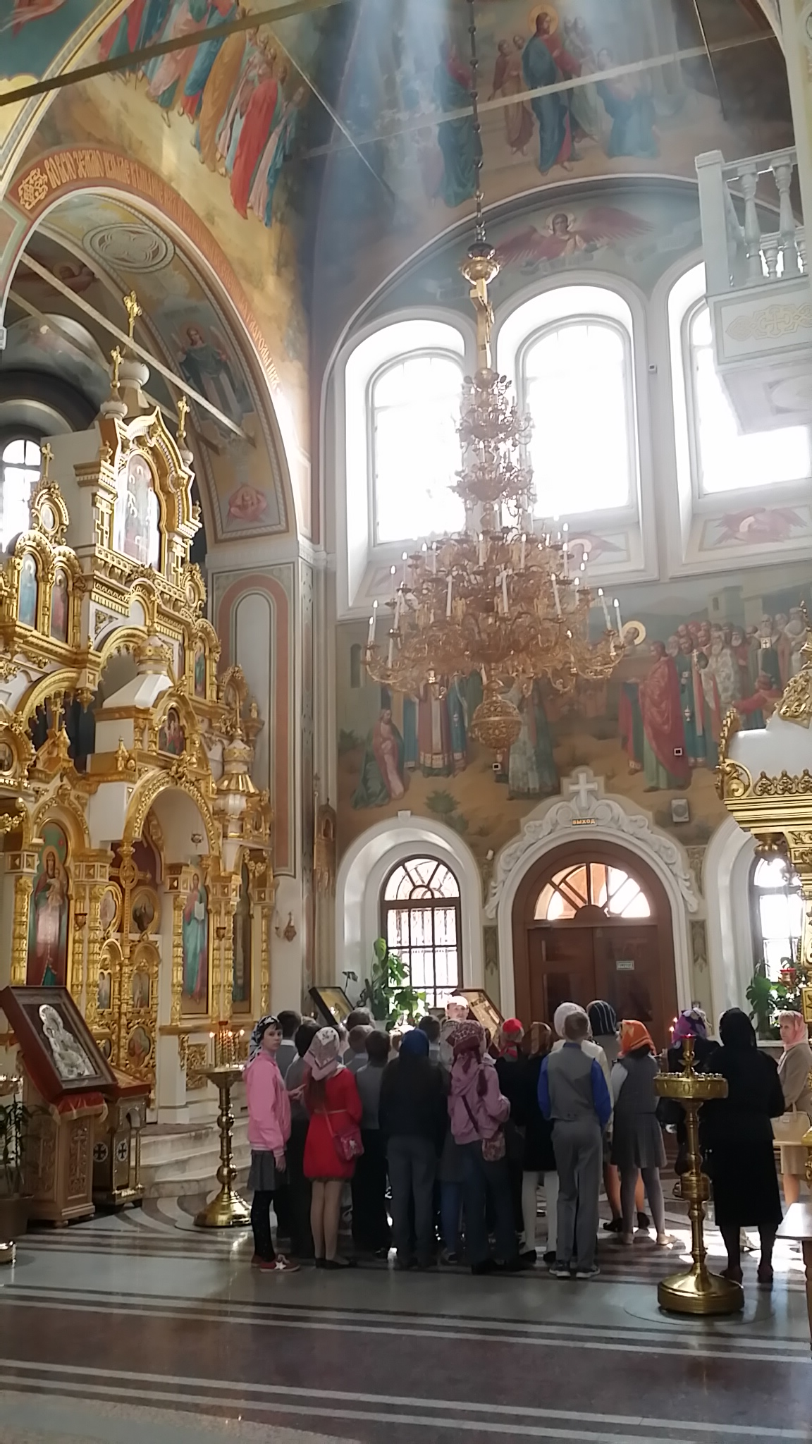 Students Learning from Master at Izhevsk Cathedral, Udmurtia, Russia