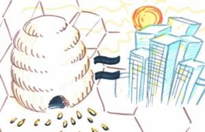 Bee - Human Hive - Tijmen Brozius